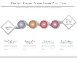 Problem Cause Review Powerpoint Slide