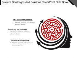 Problem Challenges And Solutions Powerpoint Slide Show