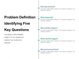 Problem Definition Identifying Five Key Questions