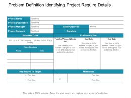 Problem Definition Identifying Project Require Details