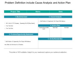 Problem Definition Include Cause Analysis And Action Plan