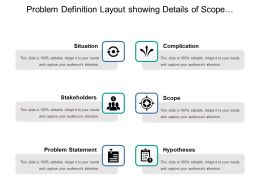 Problem Definition Layout Showing Details Of Scope Stakeholder