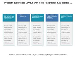 Problem Definition Layout With Five Parameter Key Issues Cultural Factor Investment