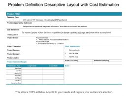 Problem Definition With Required Details Of Plan Team Member And Investment
