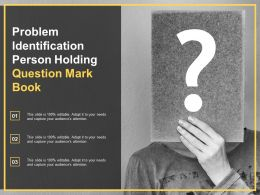 Problem Identification Person Holding Question Mark Book