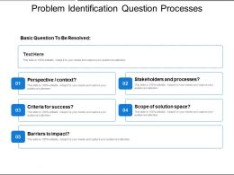 Problem Identification Question Processes Solution And Success