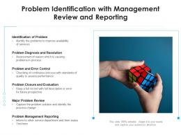Problem Identification With Management Review And Reporting