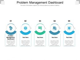 Problem Management Dashboard Ppt Powerpoint Presentation Layouts Rules Cpb