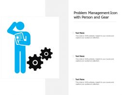 Problem Management Icon With Person And Gear