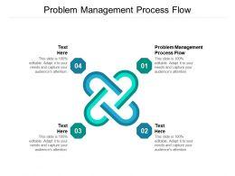 Problem Management Process Flow Ppt Powerpoint Presentation Layouts Visual Aids Cpb