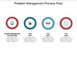 Problem Management Process Flow Ppt Powerpoint Presentation Professional Guide Cpb