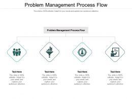 Problem Management Process Flow Ppt Powerpoint Presentation Slides Graphics Cpb
