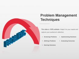 Problem Management Techniques Powerpoint Layout