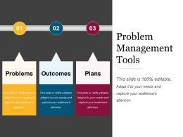 Problem Management Tools Powerpoint Shapes