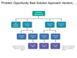 Problem Opportunity Best Solution Approach Vendors Providers Buyers Team