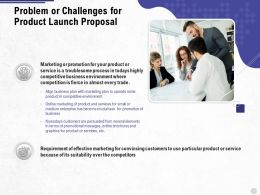 Problem Or Challenges For Product Launch Proposal Ppt Powerpoint Presentation Summary Structure