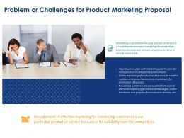 Problem Or Challenges For Product Marketing Proposal Ppt Powerpoint Show Mockup