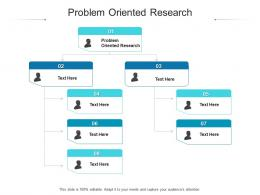 Problem Oriented Research Ppt Powerpoint Presentation File Graphic Images Cpb