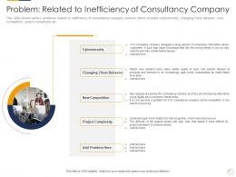 Problem Related To Inefficiency Of Consultancy Company Identifying New Business Process Company