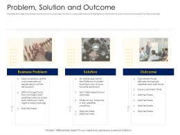 Problem Solution And Outcome Alternative Financing Pitch Deck Ppt Background Image