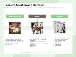 Problem Solution And Outcome App Doorstep Ppt Powerpoint Presentation Layouts Professional