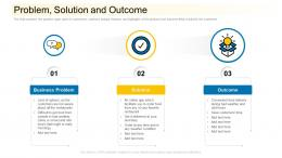 Problem Solution And Outcome Community Financing Pitch Deck Ppt Infographics Themes