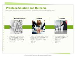 Problem Solution And Outcome Facilitate Ppt Powerpoint Presentation Gallery Model
