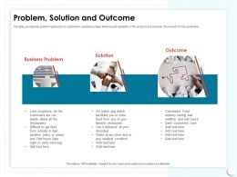 Problem Solution And Outcome Get Favorite Ppt Powerpoint Presentation Portfolio Icons