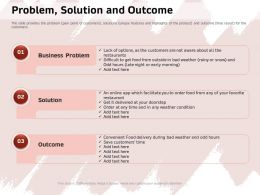 Problem Solution And Outcome Weather Condition Ppt Powerpoint Presentation Icon Rules