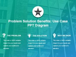 Problem Solution Benefits Use Case Ppt Diagram