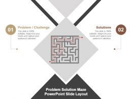 Problem Solution Maze Powerpoint Slide Layout