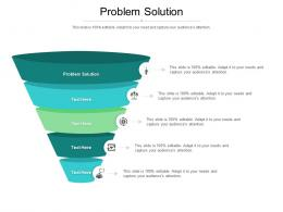 Problem Solution Ppt Powerpoint Presentation Inspiration Shapes Cpb