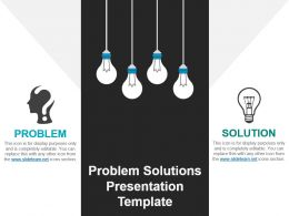 Problem Solutions Presentation Template