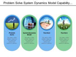 Problem Solve System Dynamics Model Capability Maturity Model