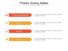 Problem Solving Abilities Ppt Powerpoint Presentation Summary Portrait Cpb