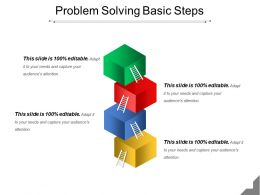 Problem Solving Basic Steps Powerpoint Slide Images