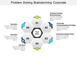 Problem Solving Brainstorming Corporate Communications Strategy Customer Lifetime Value Cpb
