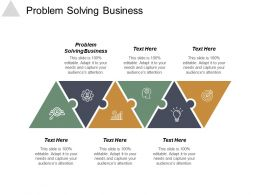 Problem Solving Business Ppt Powerpoint Presentation Icon Influencers Cpb