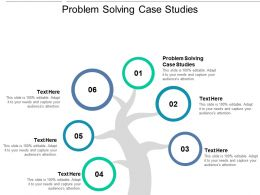 Problem Solving Case Studies Ppt Powerpoint Presentation Pictures Ideas Cpb