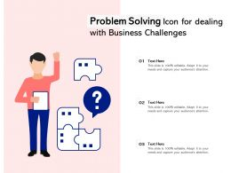 Problem Solving Icon For Dealing With Business Challenges