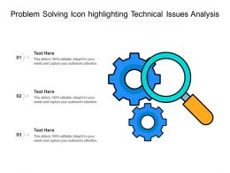 Problem Solving Icon Highlighting Technical Issues Analysis