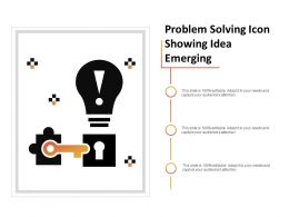 Problem Solving Icon Showing Idea Emerging