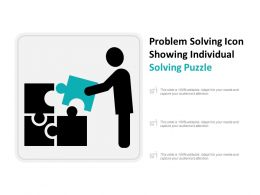 Problem Solving Icon Showing Individual Solving Puzzle