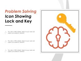 Problem Solving Icon Showing Lock And Key