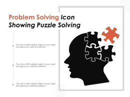 Problem Solving Icon Showing Puzzle Solving