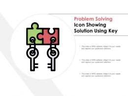 Problem Solving Icon Showing Solution Using Key