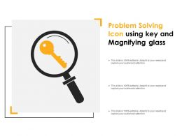 Problem Solving Icon Using Key And Magnifying Glass