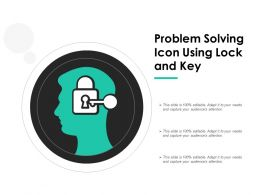 Problem Solving Icon Using Lock And Key