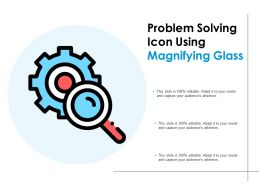 Problem Solving Icon Using Magnifying Glass