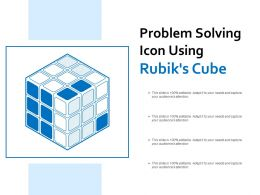 Problem Solving Icon Using Rubiks Cube